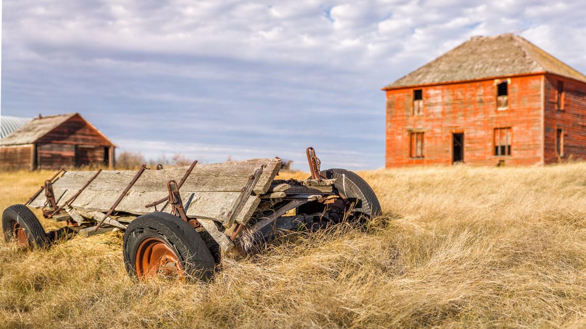 an abandoned cart